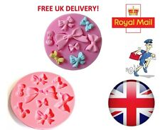 UK - Bow Ribbon Silicone Mould Fondant Cake Topper Modelling Tools Mold