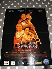 TIGRE & DRAGON poster affiche chow yun fat