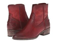 NIB Frye Women's Ray Seam Short Ankle Booties 75883 in Burgundy Size 10