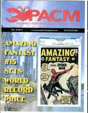 PAPER & ADV COLLECTOR MARKETPLACE, 5/6 2016 mag, Spiderman comic, NY Stamp show