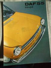 DAF 55 Coupe brochure Aug 1969 English text