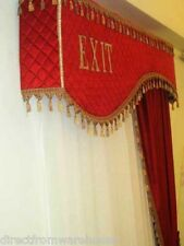 VELVET HOME THEATER CURTAIN VALANCE HAND CRAFTED DOOR CORNICE YOUR OWN LOGO