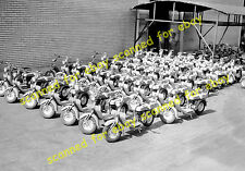 Photo - New Lambretta scooters, Innocenti factory, Italy, 1949