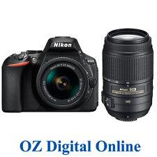 New Nikon D5600 AF-P 18-55mm &55-300mm VR Kits FullHD 24.2MP Camera Black 1YrWty