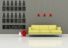 Wall Room Decor Art Vinyl Sticker Mural Decal E Cig Vape Shop Liquid FI955