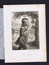 William Tell's Son -Friedrich Schiller's Play Wilhelm Tell 1883 Steel Engraving