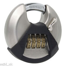 Sterling High Security 4-Dial Combination Lock Padlock - 70mm - FREE P&P