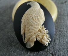 Eagle or Raven cameo silicone push mold mould polymer clay resin wax sugar