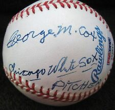 George Cox dec.95 PSA/DNA 1928 Chicago White Sox VARY RARE Signed Baseball