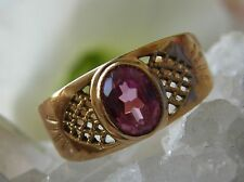 Designer Ring 585° Gold echter Turmalin Russland Gr.63  im Jugendstil 1980 R380