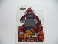 POKEMON LAMINCARD GROUDON NUMBER 147 SPECIAL OR LEGENDARY