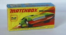 Repro Box Matchbox Superfast Nr.52 Dodge Charger MK3 grün
