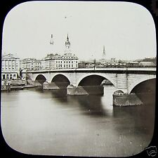 Glass Magic Lantern Slide LONDON BRIDGE C1890 PHOTO LONDON ENGLAND