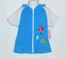 """Disney Little Mermaid """"Ariel"""" One (1) Piece Swimsuit & Hooded Terry Cover Up 3T"""