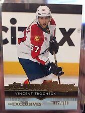 2014-15 UD Series One - Vincent Trocheck - UD Exclusives Young Guns Rookie /100
