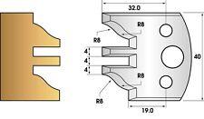 Paire de fers de toupie hauteur 40 - Profil et contre-profil n° 97
