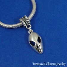 Silver ALIEN Dangle Bead CHARM Extraterrestrial UFO fits EUROPEAN Bracelet