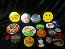 Lot Of 19 Vintage Retro 80s Variety Unicorn Flinstones Badges Button Pin