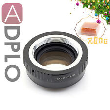 Gift Focal Reducer Speed Booster adapter M42 Lens to Micro 4/3 M4/3 Panasonic