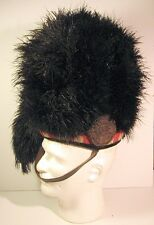 Early Black Watch 4 Tail Ostrich Feather Bonnet Helmet - No Badge