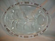 Vintage Inland Glass Meat Platter Serving Tray