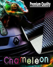 1520mm x 500mm Chameleon Purple to Blue 3D Carbon Fibre Vinyl Car Wrap Sticker