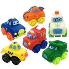 Rubber Plastic Car Model Toy for Toddler Baby Kid Play Pack of 6 Pcs Set
