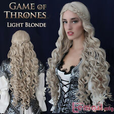 Game of Thrones Daenerys Targaryen Dragon Princess Long Blonde Braid cosplay wig