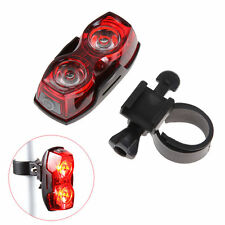 Bright Bike Bicycle Cycling 2 LED Flashing Light Lamp Safety Back Rear Tail New