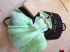 Ted Baker Miyaa Feather Appliqué Dress Mint Green Tulle Sz 1 UK 8 US 2 Wedding
