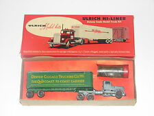 Ulrich 3 Axle Kenworth Tractor with Denver - Chicago Trailer Kit---HO SCALE