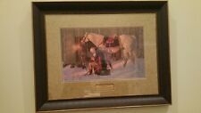 Prayer at Valley Forge Gallery Addition Friberg 38 x 30 Framed COA and Plaque