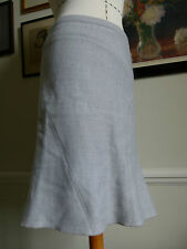 BCBG MAXAZRIA light blue 100% wool knee length skirt UK Size 8