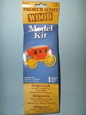 MINIATURE WOOD STAGECOACH MODEL KIT OVERLAND OLD WESTERN PRIMITIVE