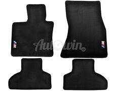 BMW X5 Serie F15 2012-2016 Schwarze Fußmatten Satz mit M Emblem LHD Seite