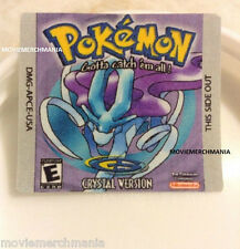 Pokemon Crystal Version Cartridge Replacement Label Sticker on Gameboy Game