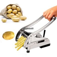 French Fry Cutter Potato Vegetable Slicer Chopper Dicer 2 Blades Us Shipped