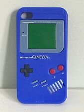 Nintendo GameBoy Blue Silicone Gel iPhone 4g Case Skin Excellent Used Condition