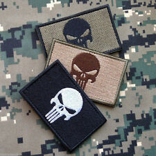 3pcs VELCRO Olive Punisher Military Tactical Airsoft Morale Operator Cap Patch