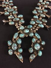 *STATEMENT* Squash Blossom Necklace - Vintage Turquoise - Native American Indian