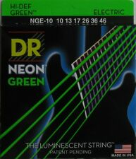 DR Strings NGE-10 Hi-Def Coated Neon Green Lite Electric Guitar Strings (10-46)