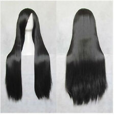 Womens Fashion Long Straight Hair Full Wigs Cosplay Party Costume Wig Sexy Black