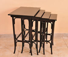 Set of four Jugendstil  nesting table, Thonet, c. 1900, restored condition