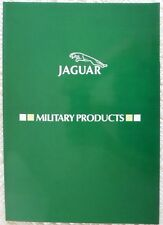 JAGUAR Military Products rare glossy brochure - Fox, Scout, Stonefield, Ferret