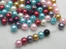 500pcs 4mm Bulk Multicolor Round Pearl Imitation Glass Craft Beads wholesale