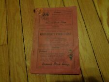 1939 University of Wisconsin Madison Student Directory Phone Book