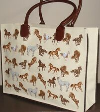 Horse Print Shoulder Bag/Shopping Bag - Jute Bag
