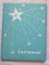 1961 EMINENCE HIGH SCHOOL YEAR BOOK, EMINENCE, INDIANA THE EMITONIAN    UNMARKED
