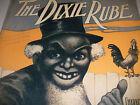 Rare 1905 Original Antique Black Americana The Dixie Rube music sheet 6 pages