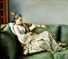 Nice Oil painting Portrait of Maria Adelaide of France in Turkish-style clothes